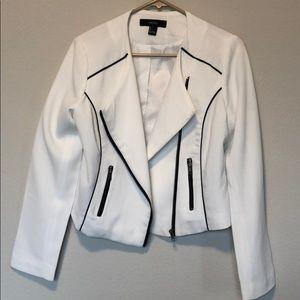 Forever 21 white black blazer size Large
